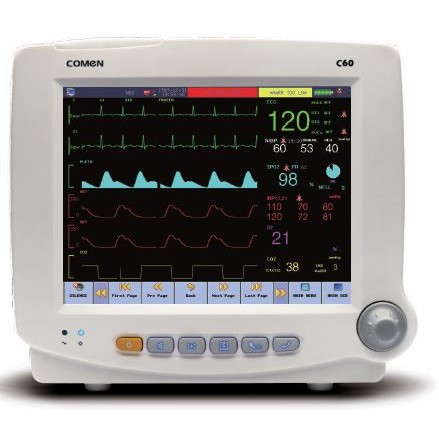 Comen C60 with CO2 - Multi-Parameter Color Patient Monitor with